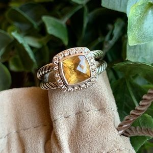 David Yurman Jewelry - David Yurman Petite Albion Citrine & Diamond Ring